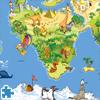 بازل خريطة العالم الكارتون