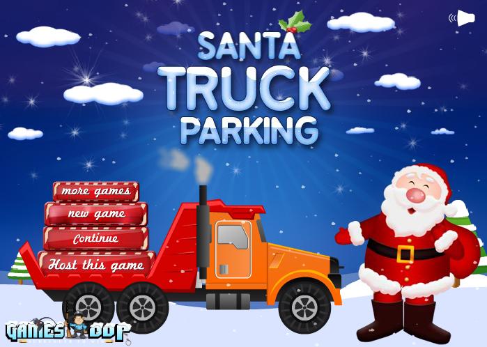 سانتا وركن السيارات الشاحنة