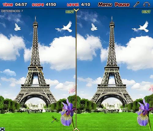 لعبة الاختلافات بين صور فرنسا